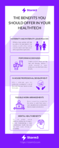 infographic of employee benefits